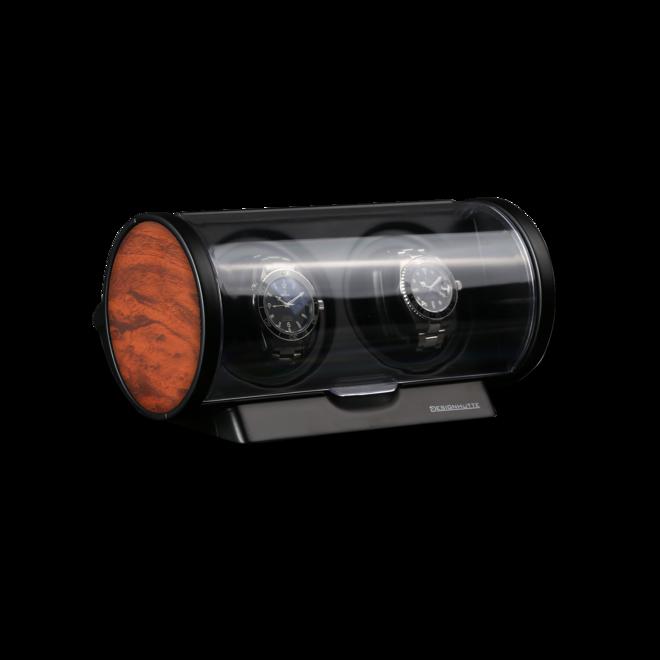 Uhrenbeweger Designhütte Uhrenbeweger Tubix aus Wurzelholz und Kunststoff bei Brogle