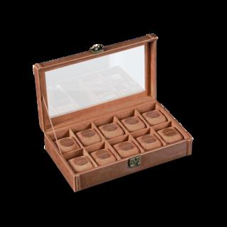 Designhütte Uhrenbox mit Sichtfenster Camel 10 70005-133