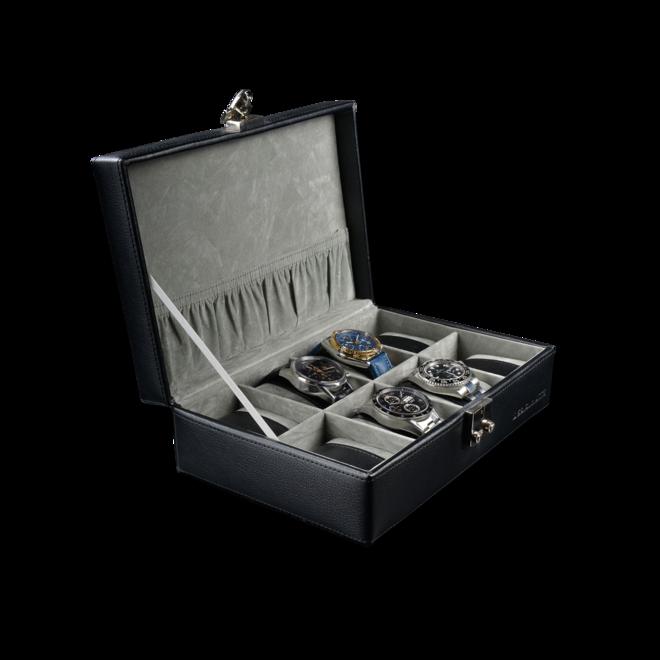 Designhütte Uhrenbox Solid 8 - Schwarz aus Feinsynthetik bei Brogle