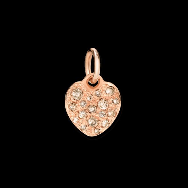 Charm Dodo Cuore Diamanten aus 375 Roségold mit mehreren Diamanten (0,21 Karat)