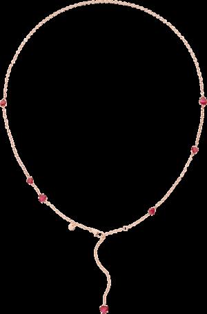 Halskette Dodo Amore aus 375 Roségold mit 7 Rubinen