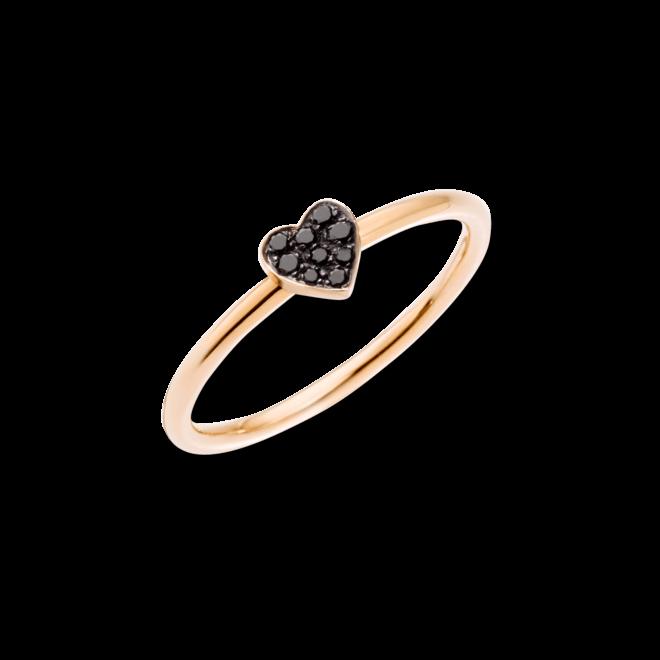 Ring Dodo Herz aus 375 Roségold mit mehreren Diamanten (0,05 Karat)