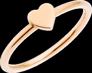 Ring Dodo Herz aus 375 Roségold