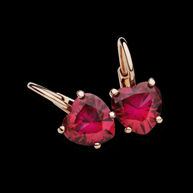 Ohrring Dodo Amore aus 375 Roségold mit 2 Rubinen