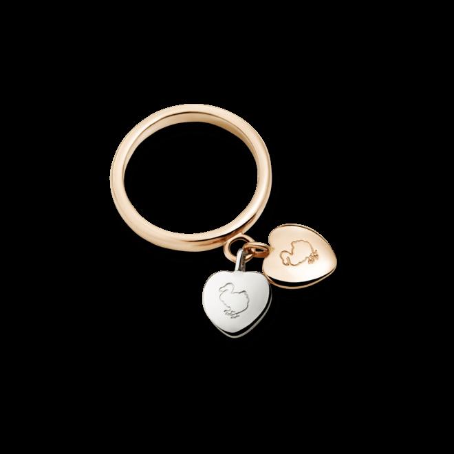 Ring Dodo Amore aus 375 Roségold und 925 Sterlingsilber