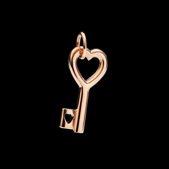 Charm Dodo Schlüssel aus 375 Roségold