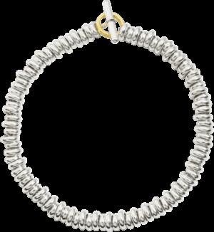 Armband Dodo Beads aus 925 Sterlingsilber und 750 Gelbgold Größe XXL