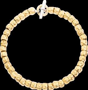 Armband Dodo Beads aus 750 Gelbgold und 925 Sterlingsilber Größe 16 cm