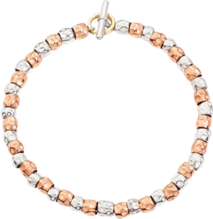 Armband Dodo Beads aus 375 Roségold und 925 Sterlingsilber Größe 16 cm