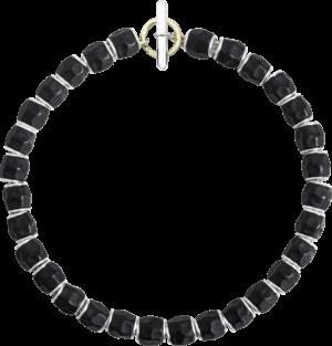 Armband Dodo Beads aus 925 Sterlingsilber, Edelharz und 750 Gelbgold Größe 17 cm