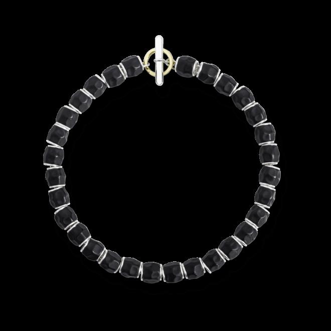 Armband Dodo Beads aus 925 Sterlingsilber, Edelharz und 750 Gelbgold