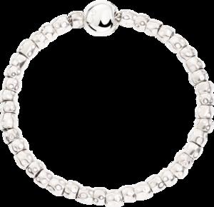 Armband Dodo Beads-Set mit Pepita-Verschluss aus Silber und 375 Roségold