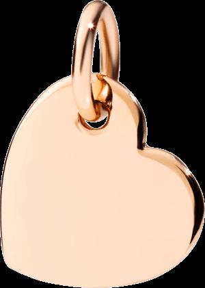 Charm Dodo Herz aus 375 Roségold