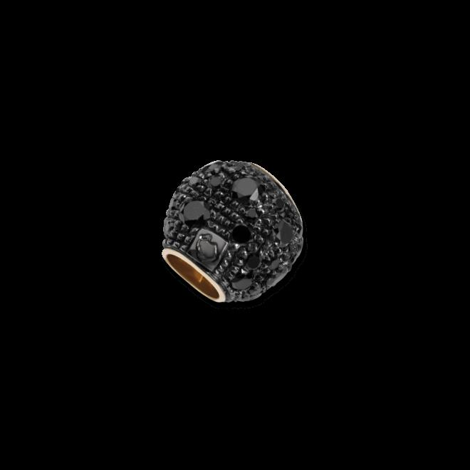 Bead Dodo Pepita aus 375 Roségold mit mehreren Diamanten (0,39 Karat)