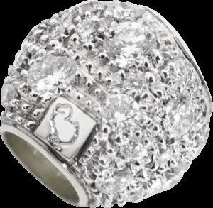 Bead Dodo Pepita aus 375 Weißgold mit mehreren Diamanten (0,39 Karat)