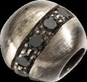 Bead Dodo Pepita aus Silber mit mehreren Diamanten (0,15 Karat)