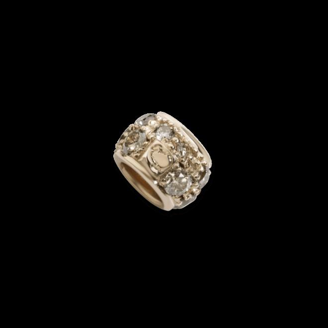 Bead Dodo Ringlet aus 375 Roségold mit mehreren Diamanten