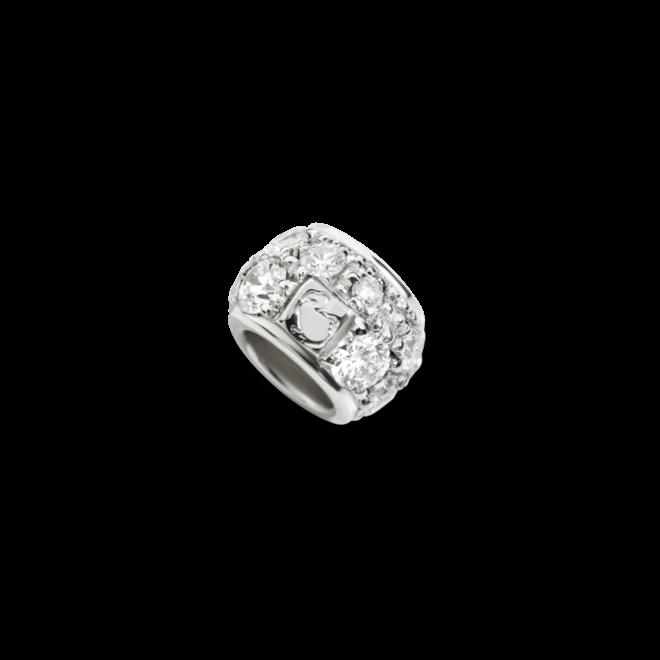 Bead Dodo Ringlet aus 375 Weißgold mit mehreren Diamanten (0,21 Karat)