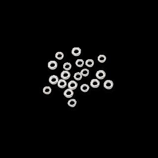 Dodo Bead Rondelle 20 Silberscheiben DGAG/2/20