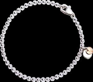 Armband Dodo Bollicine aus 925 Sterlingsilber und 375 Roségold