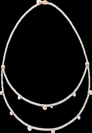 Halskette Dodo Bollicine aus 375 Roségold und 925 Sterlingsilber