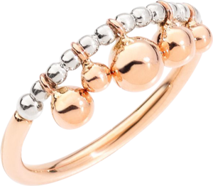 Ring Dodo Bollicine aus 375 Roségold und 925 Sterlingsilber