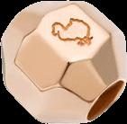 Bead Dodo Steinchen Stopper Bollicine für Halsketten aus 375 Roségold