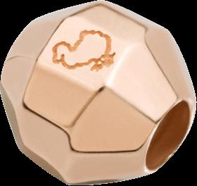 Bead Dodo Steinchen Stopper Bollicine für Halsketten aus 375 Roségold und Silikon