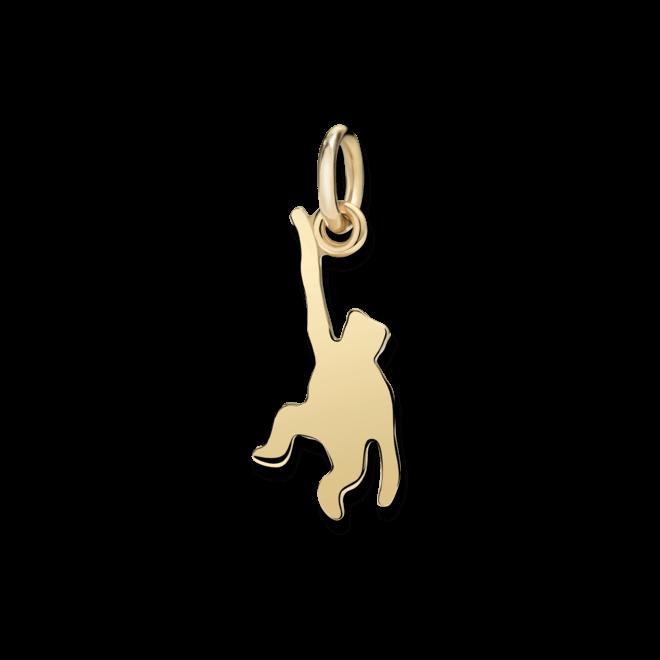 Charm Dodo Affe (klein) aus 750 Gelbgold