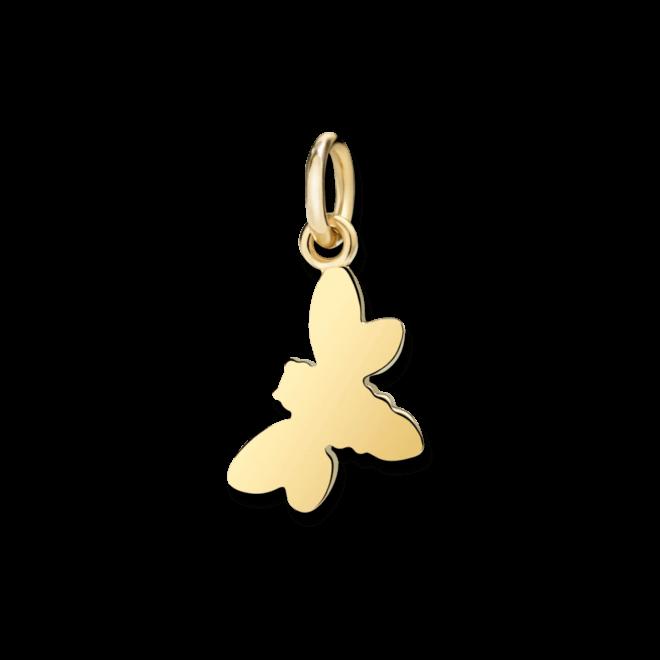 Charm Dodo Biene (klein) aus 750 Gelbgold