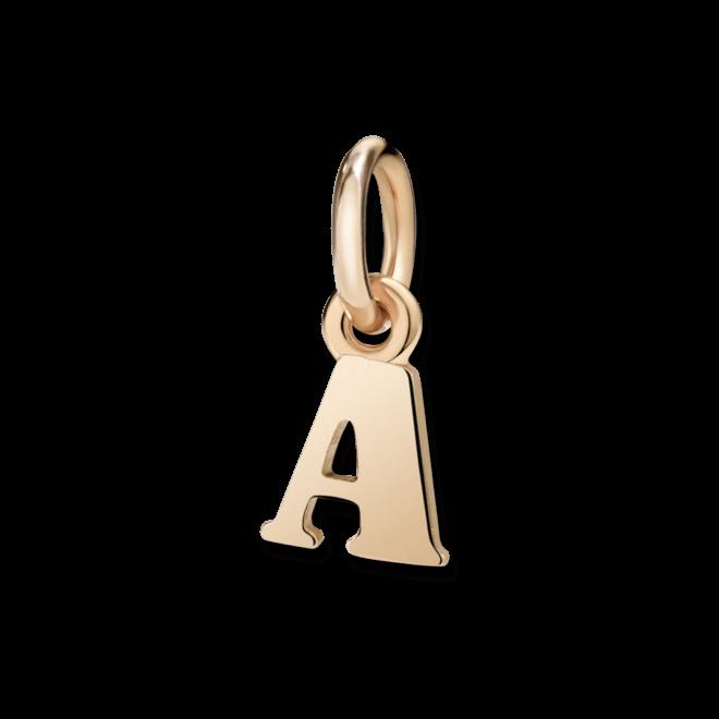 Charm Dodo Buchstabe A (klein) aus 375 Roségold