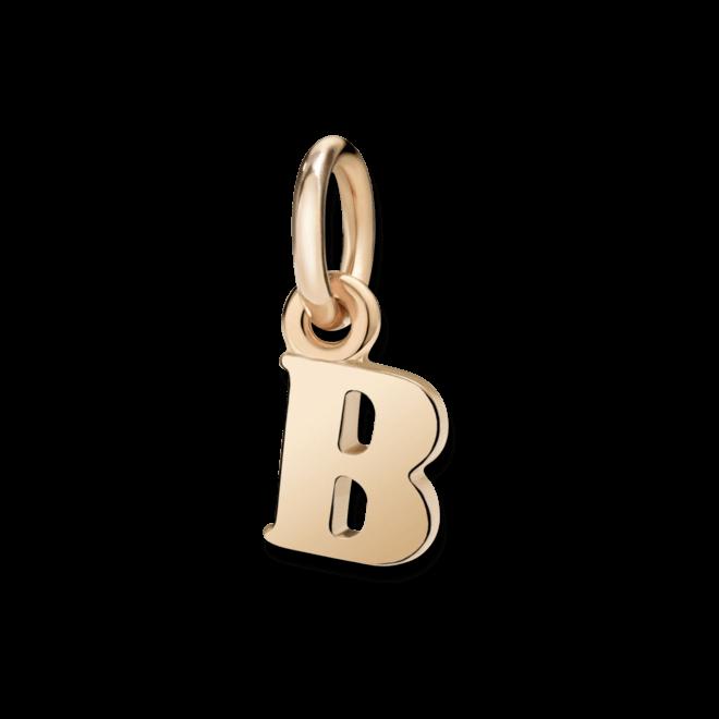 Charm Dodo Buchstabe B (klein) aus 375 Roségold