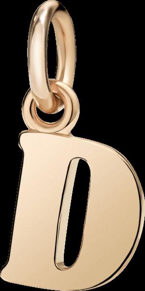 Charm Dodo Buchstabe D (groß) aus 375 Roségold