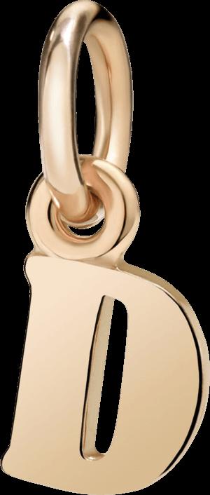 Charm Dodo Buchstabe D (klein) aus 750 Roségold