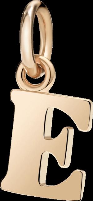 Charm Dodo Buchstabe E (groß) aus 375 Roségold
