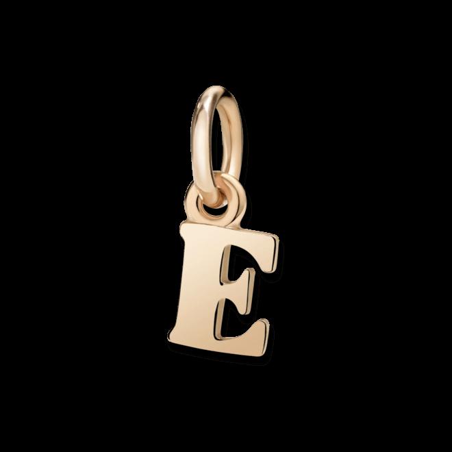 Charm Dodo Buchstabe E (klein) aus 375 Roségold