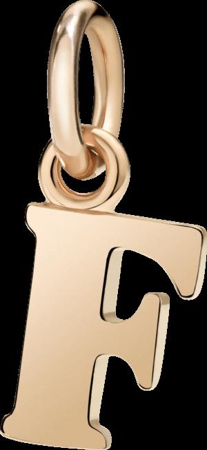 Charm Dodo Buchstabe F (groß) aus 375 Roségold