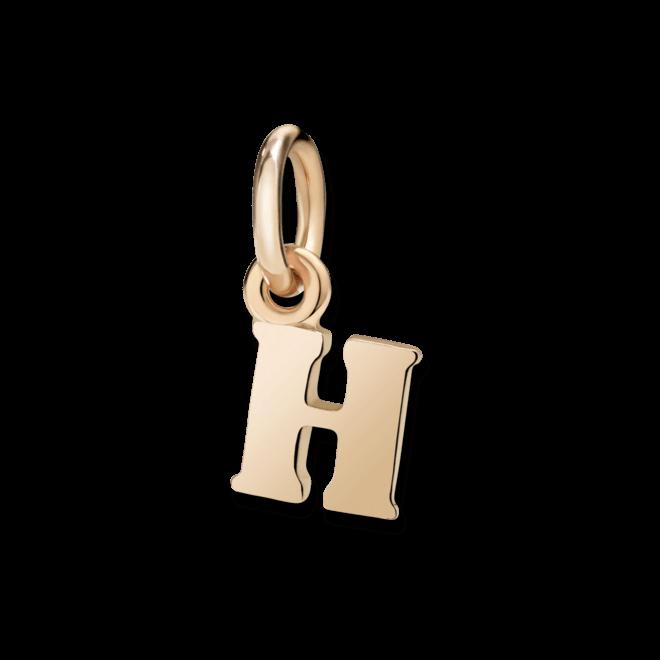 Charm Dodo Buchstabe H (klein) aus 375 Roségold