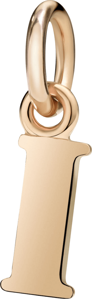 Charm Dodo Buchstabe I (groß) aus 375 Roségold