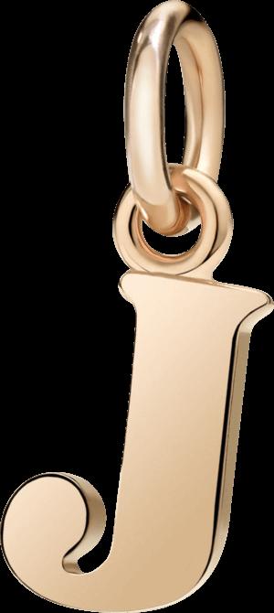 Charm Dodo Buchstabe J (groß) aus 375 Roségold