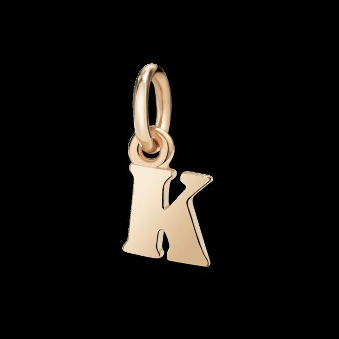 Charm Dodo Buchstabe K (klein) aus 375 Roségold