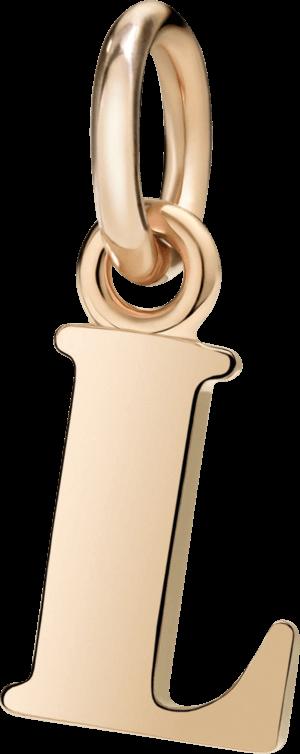 Charm Dodo Buchstabe L (groß) aus 375 Roségold