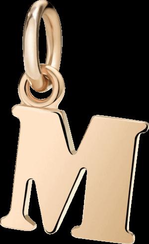 Charm Dodo Buchstabe M (groß) aus 375 Roségold