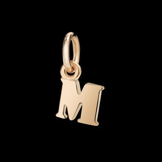Charm Dodo Buchstabe M (klein) aus 375 Roségold