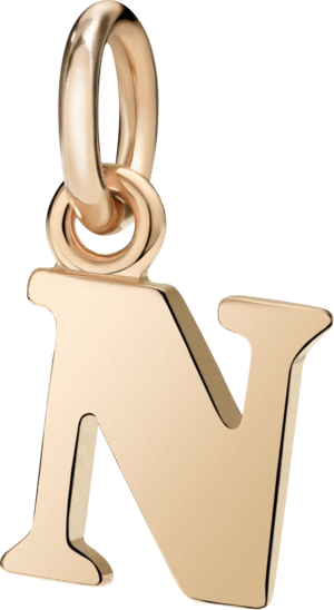 Charm Dodo Buchstabe N (groß) aus 375 Roségold