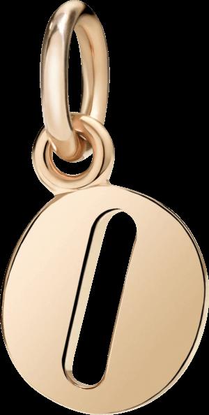 Charm Dodo Buchstabe O (groß) aus 375 Roségold