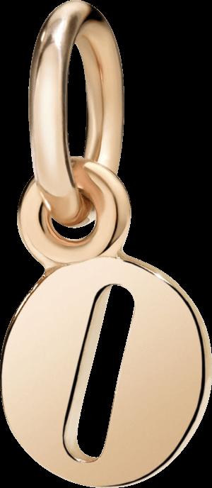 Charm Dodo Buchstabe O (klein) aus 375 Roségold