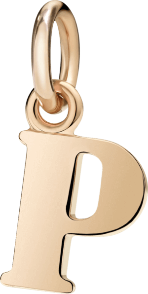 Charm Dodo Buchstabe P (groß) aus 375 Roségold