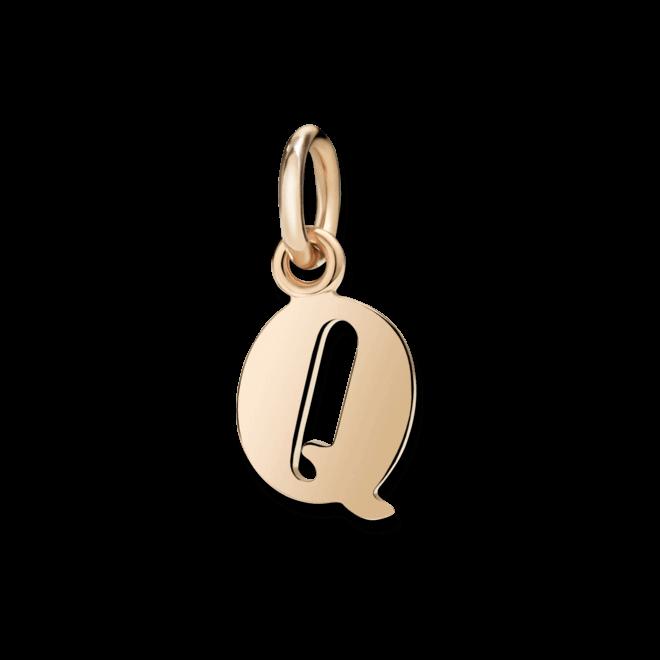 Charm Dodo Buchstabe Q (groß) aus 375 Roségold