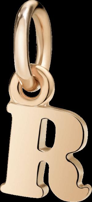 Charm Dodo Buchstabe R (klein) aus 375 Roségold